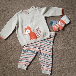 Little Fox Gymboree sweater outfit